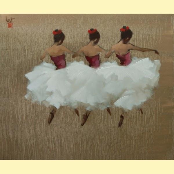 As Dançarinas - Thanh Binh e Suas Pinturas Elegantes - Vietnamita