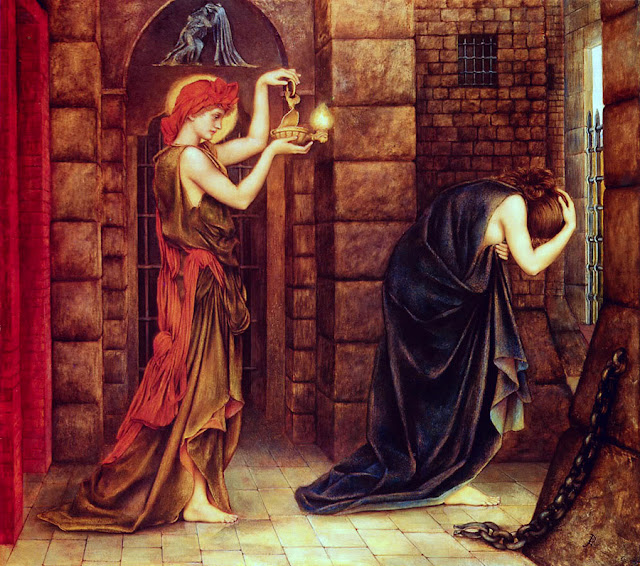 Hope in a Prison of Despair by Evelyn De Morgan (1887)