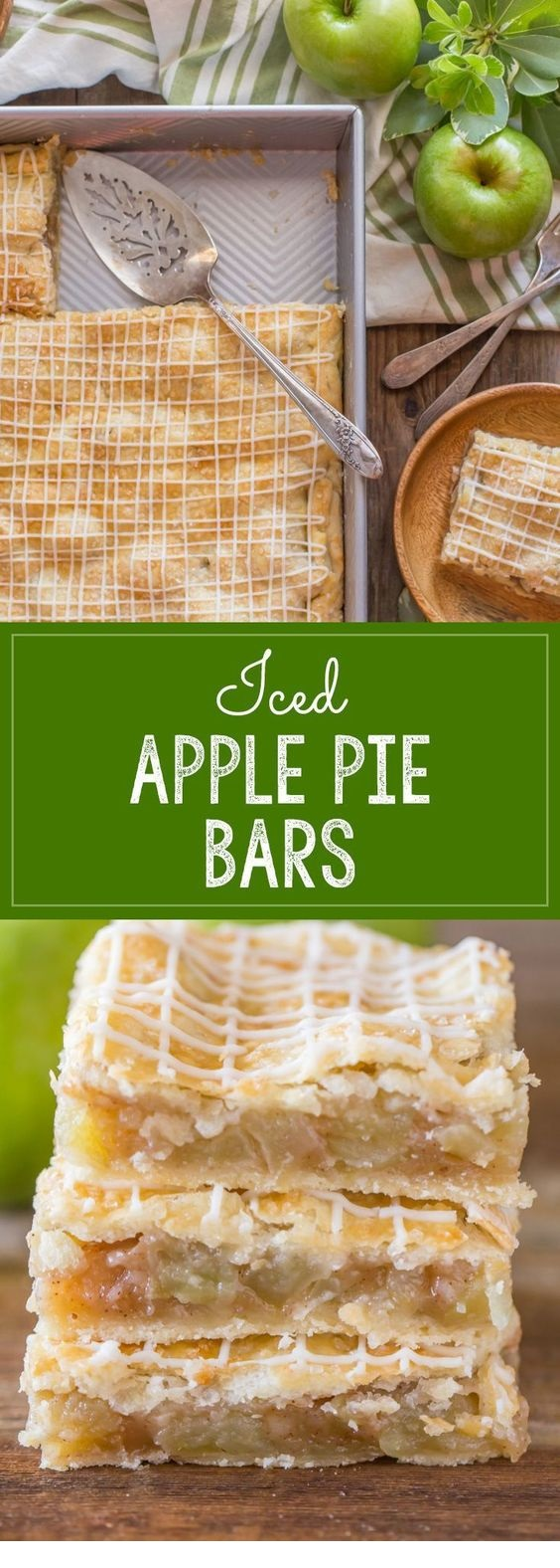 Iced Apple Pie Bars