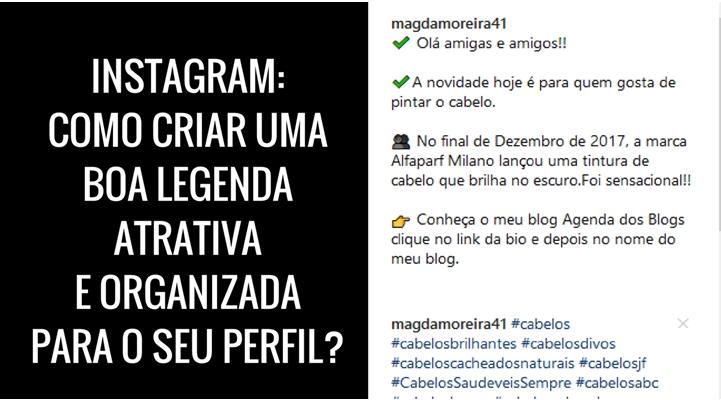 Legendo do Instagram