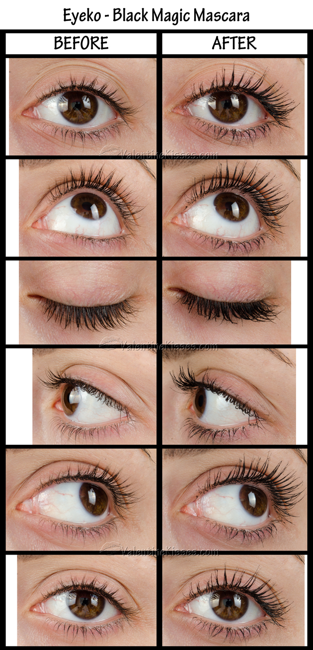 8ea1baa2e9f Valentine Kisses: Eyeko - Black Magic Mascara - before & after, pics ...