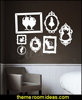 Alice  in Wonderland Kids Frame  Wall Decal Sticker