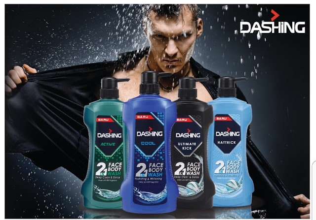 DASHING 2 IN 1 Face and Body Wash
