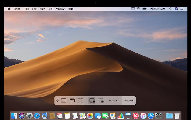 كيفية أخذ لقطة للشاشة وتسجيل فيديو على macOS Mojave