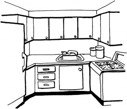 kitchen drawing for kids free kitchen coloring pages 517