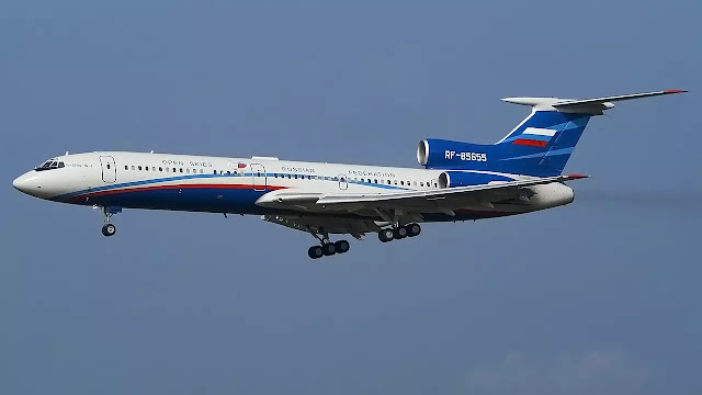 Another Russian TU - 154M plane used to fly over the US.