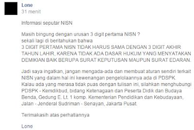 gambar info NISN Terbaru