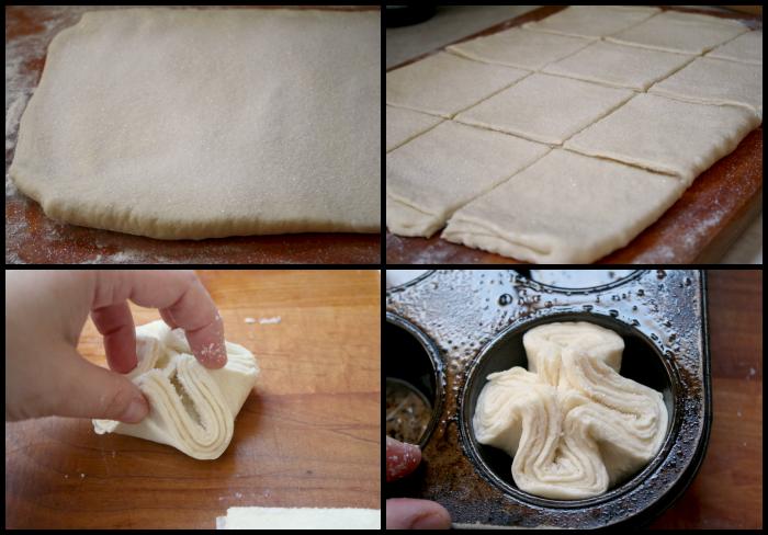 Kouign Amann dough - forming