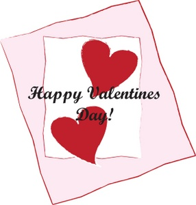 clipart_illustration_of_a_happy_valentines_day_greeting_card_with_two_hearts_on_a_pink_and_white_background