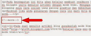 Cara Membuat Read More