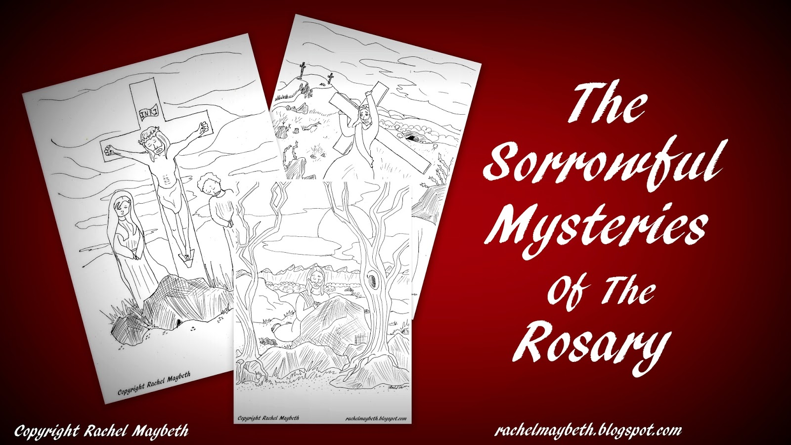 Rachel Maybeth Mysteries Of The Rosary Free Coloring