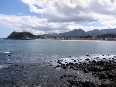 Ribadesella, playa desde el Mirador del Pozo