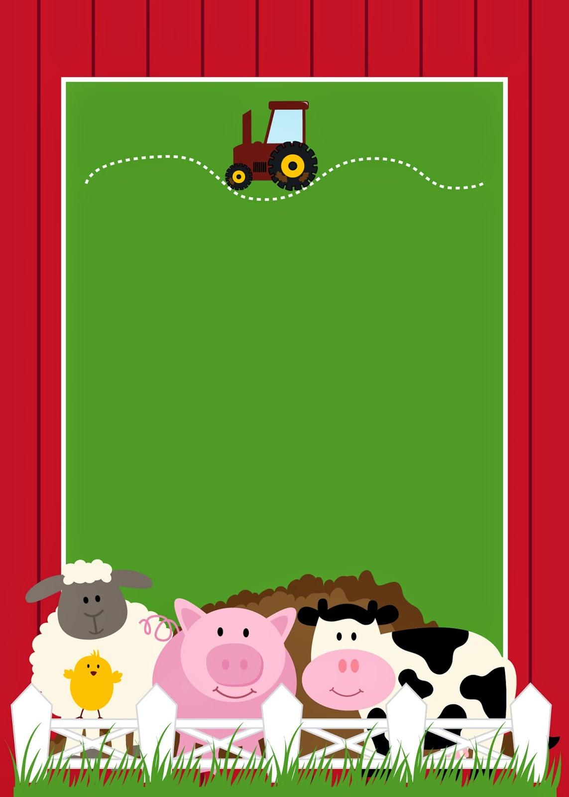 free printable farm party invitations