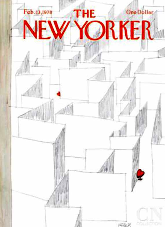 valentine's day, magazine covers, the new yorker, robert weber illustration
