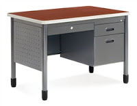 Heavy Duty Metal Desk with Laminate Top
