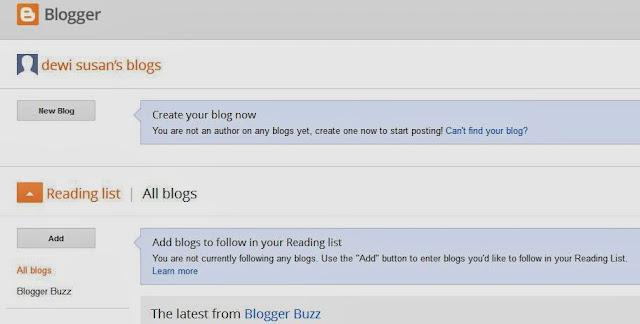 halaman dasboard bloag