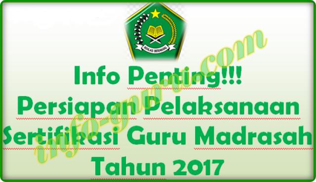 Info Penting!! Persiapan Pelaksanaan Sertifikasi Guru Madrasah Kemenag Tahun 2017
