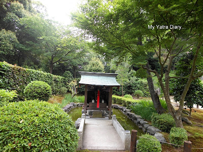 A small temple at the Jikoin Zen Temple, Nara in Japan