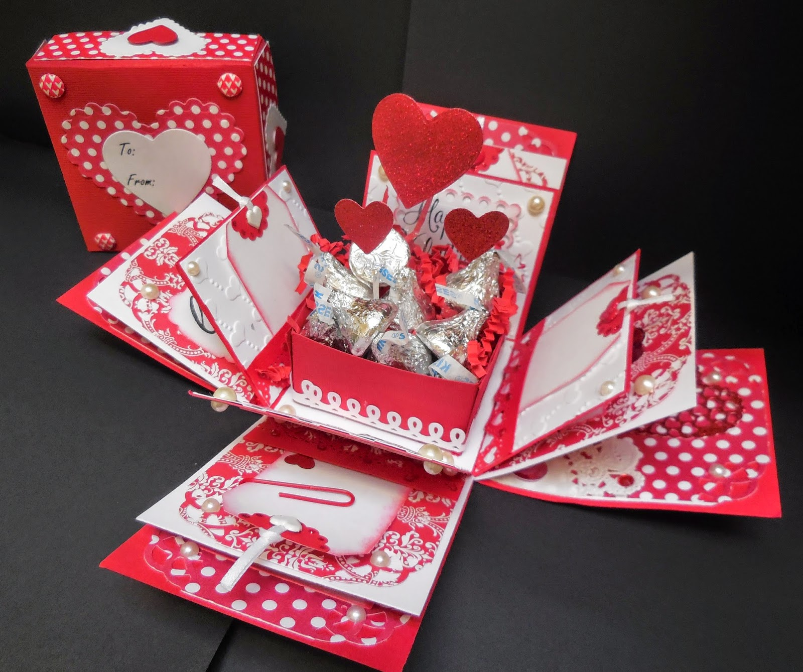 Stamp On Over At Cranberry Hill Mercantile Valentine Explosion Box