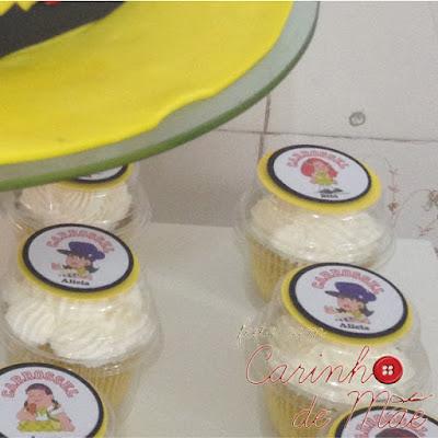 festa carrossel cupcake