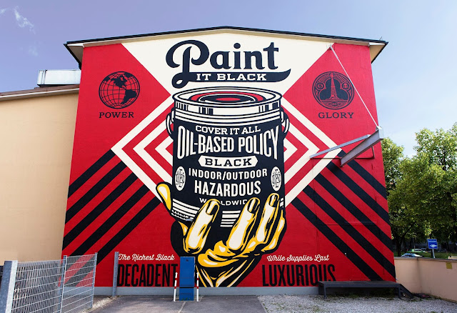 Shepard Fairey has landed in Europe and his first stop in Munich, Germany where he just finished working on this new piece.