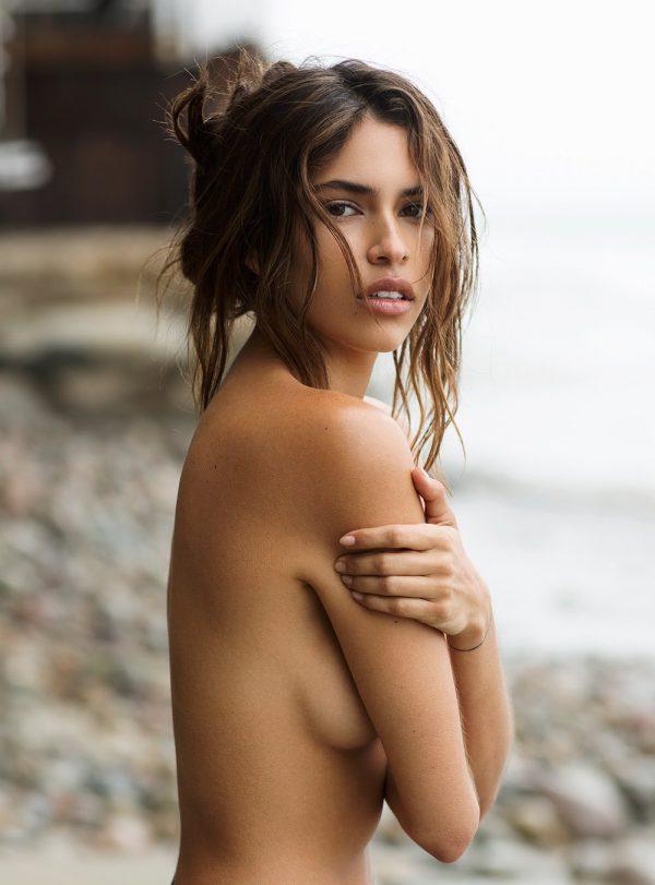 hot model Juliana Herz bikini topless sexy pose