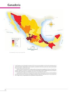 Apoyo Primaria Atlas de México 4to Grado Bloque IV Lección 3 Ganadería