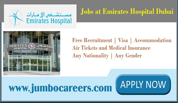 All new hospital jobs in Dubai, UAE jobs with salary and benefits,