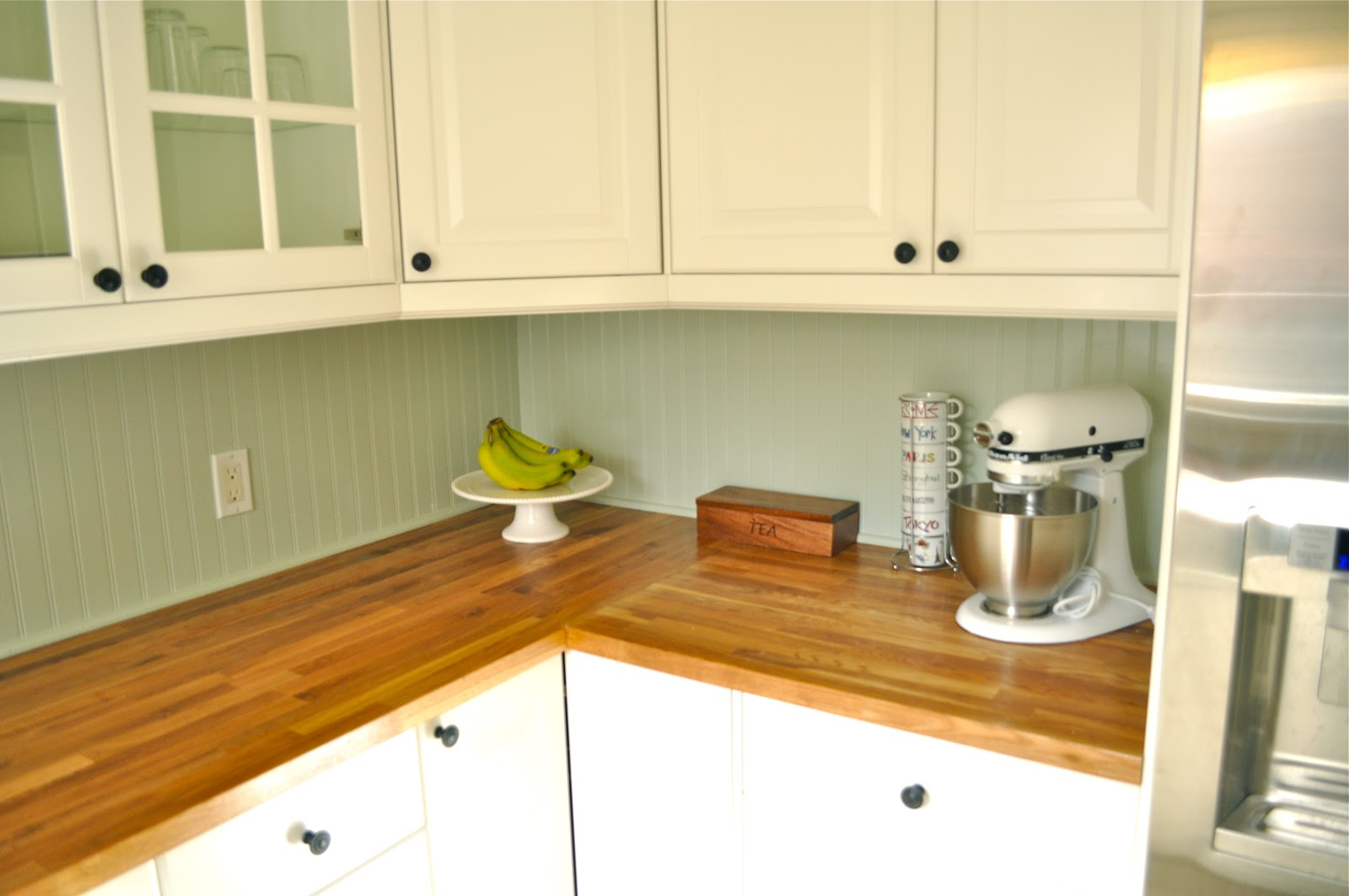Best Backsplash For Butcher Block Countertops : It's Marvelous: a few kitchen follow-ups: butcher-block counters, $50 backsplash and (not) diy ...