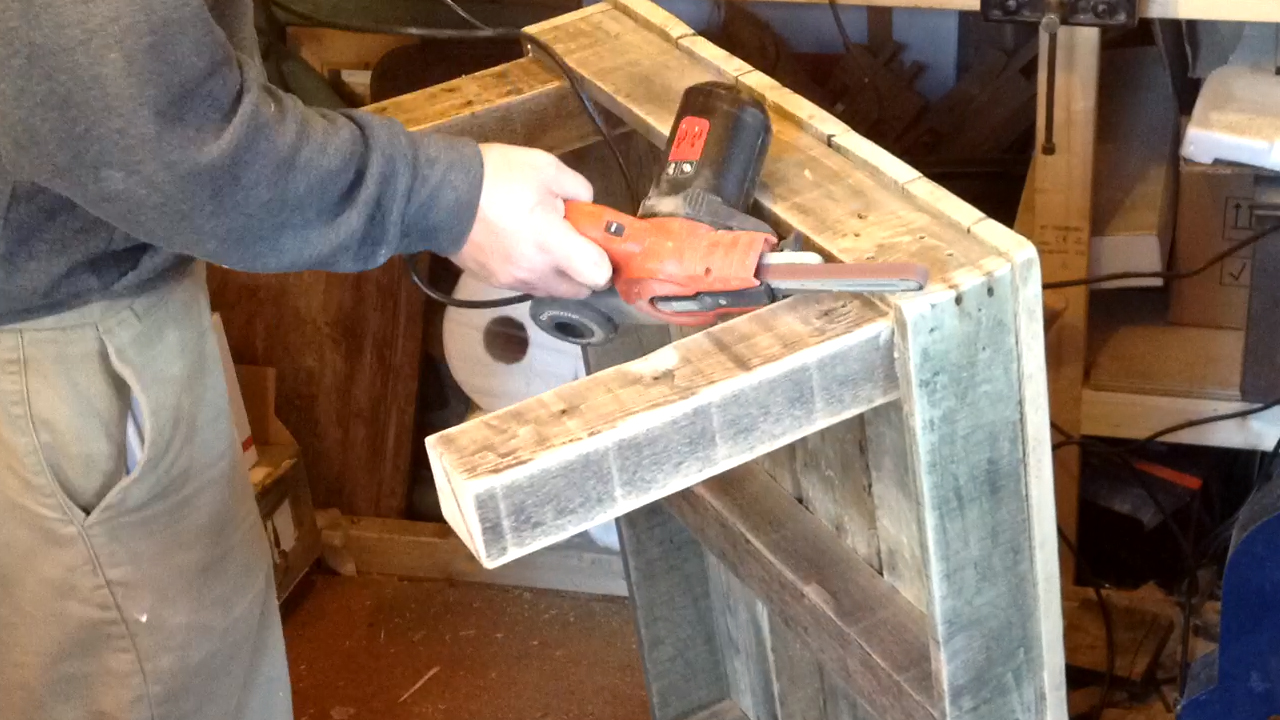 BearWoodWork: How to Make a Coffee Table from Reclaimed ...