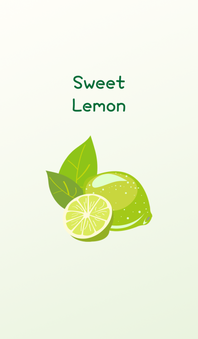 Delicious sweet and sour lemon