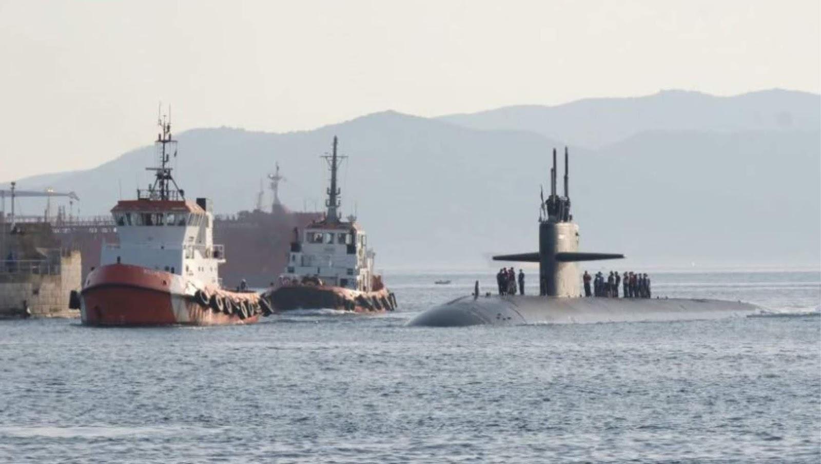 Kapal selam nuklir Amerika mendekati Laut Mediterania
