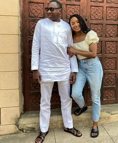 Femi Otedola's fact response to a follower who wants to date hie daughter, Temi Otedola