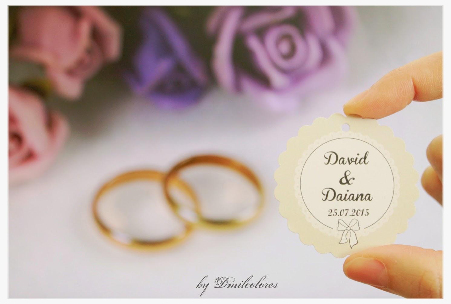 diseño etiquetas de boda