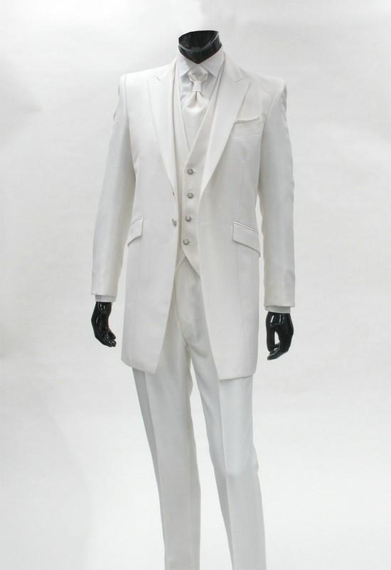 Model Desain Jas Pengantin Pria Terbaik Warna Putih