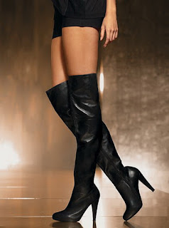 mayfaor escort high heeled thigh boots and black shorts