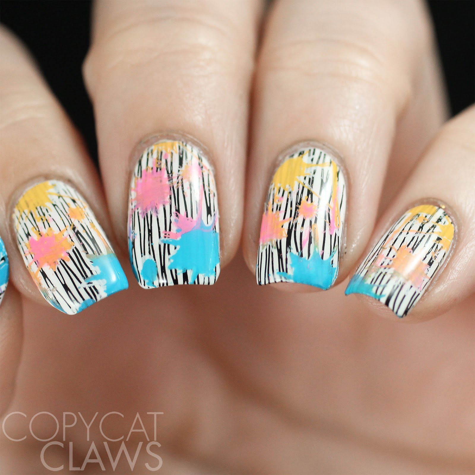 Copycat claws 26 great nail art ideas color explosions lina nail art supplies make your mark 03 color explosion stamping prinsesfo Choice Image