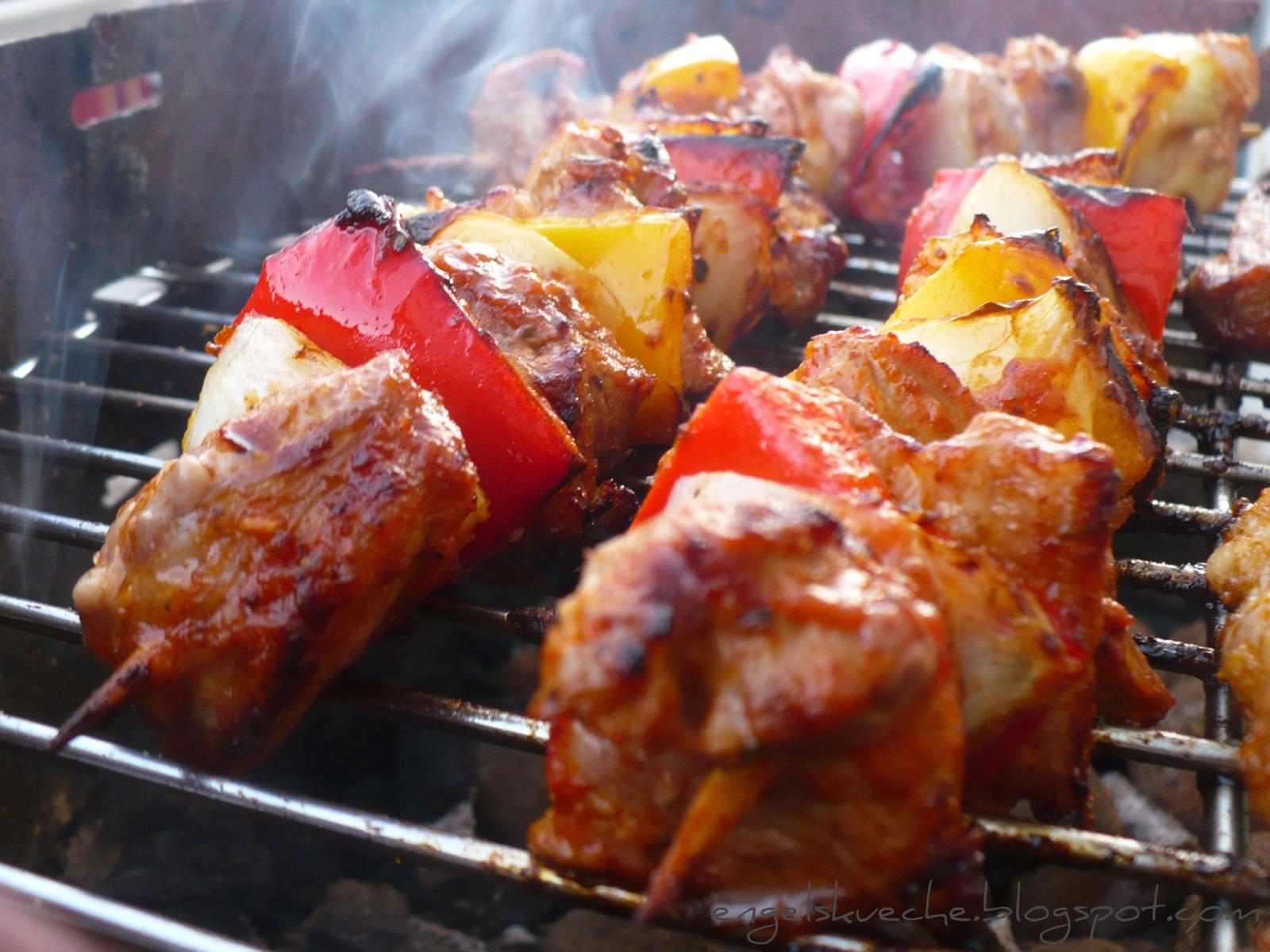 essen aus engelchens küche schaschlik grillspieße