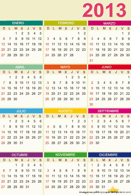 Calendario con foto 2013 para imprimir gratis 31