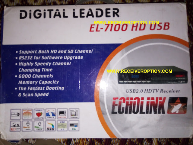 ECHOLINK EL-7100 HD USB RECEIVER SOFTWARE