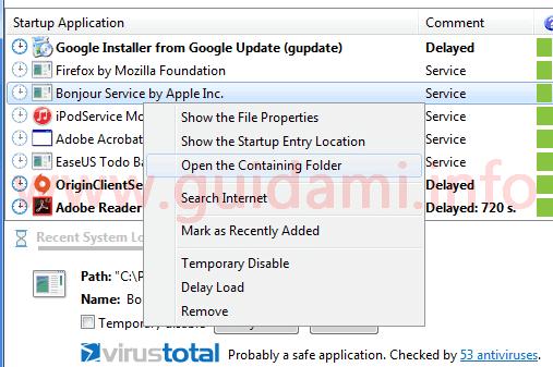 Autorun Organizer menu contestuale mouse per gestione programmi
