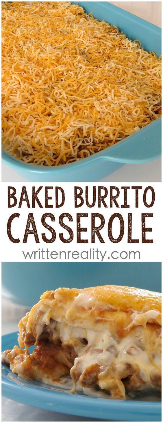 EASY BAKED BURRITO CASSEROLE RECIPE