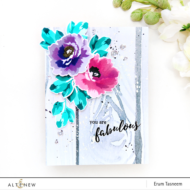 Altenew Fabulous Floral Stamp Set | Erum Tasneem | @pr0digy0