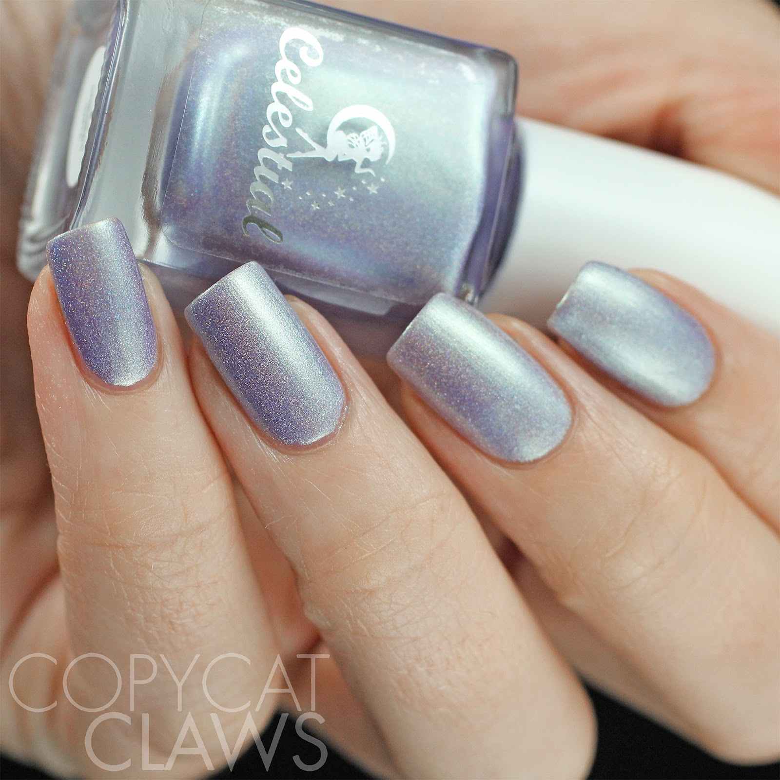 Copycat Claws Blue Color Block Nail Art: Copycat Claws: Celestial Cosmetics Rainbows & Unicorns