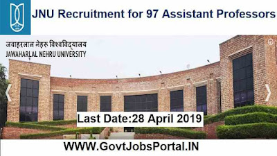 JNU Recruitment for 97 Assistant Professors