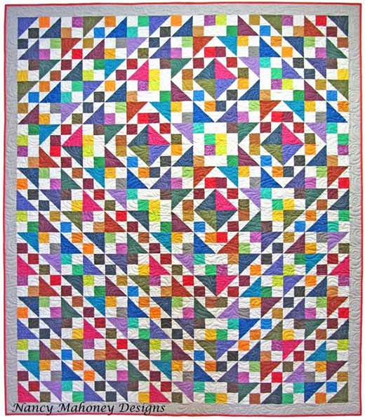 Twirly Swirly Quilt designed by Nancy Mahoney featuring the Bear Essentials collection by P&B Textiles