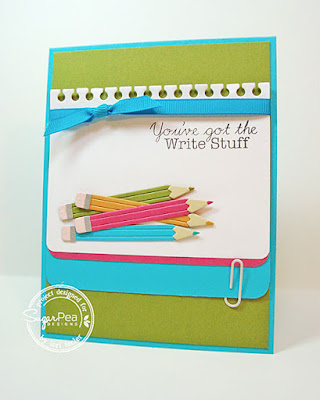 You've Got the Write Stuff card-designed by Lori Tecler/Inking Aloud-stamps and dies from SugarPea Designs