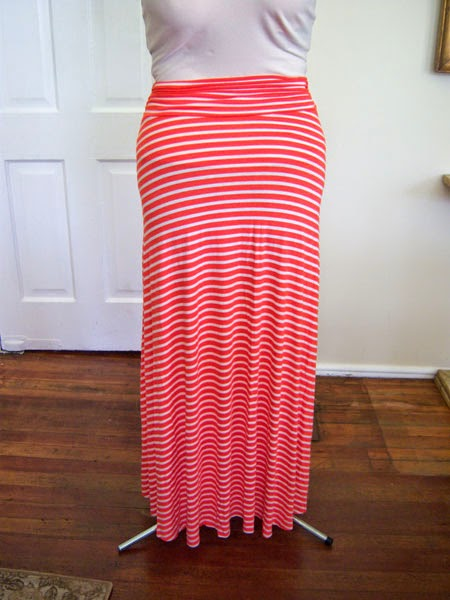 Renee C - Gabe Striped Maxi Skirt