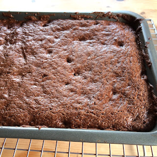 Brownies in Tray Cooling
