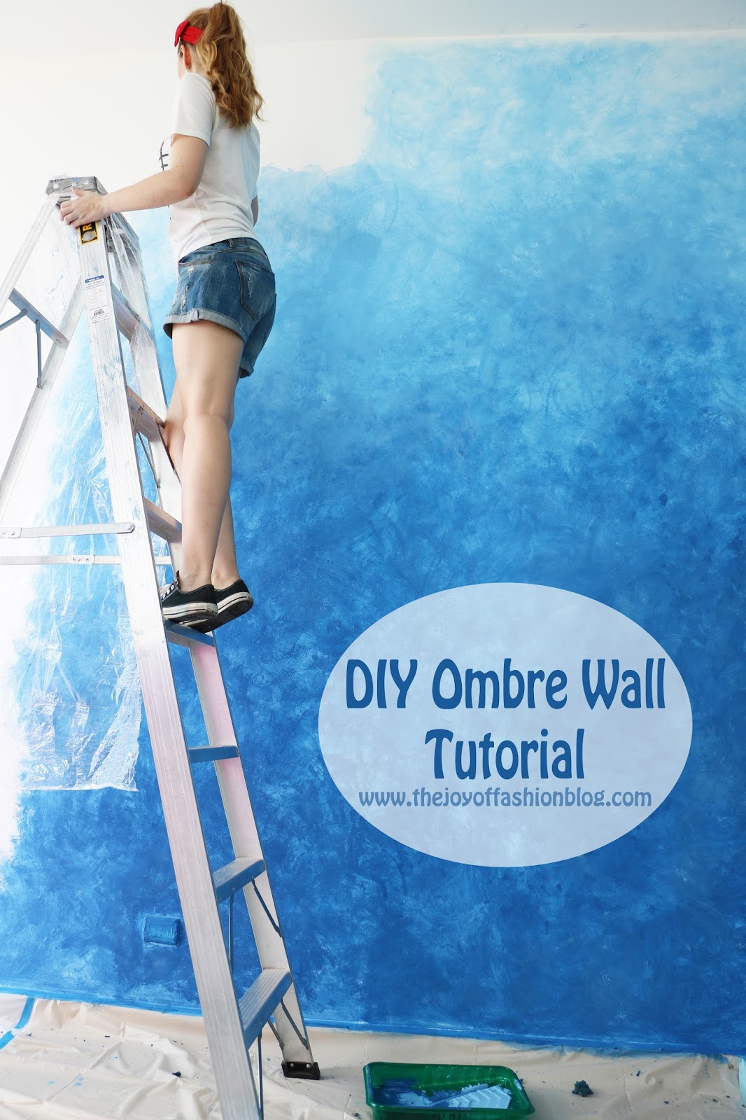 Step by step tutorial on how to create this ombre wall effect, click through!